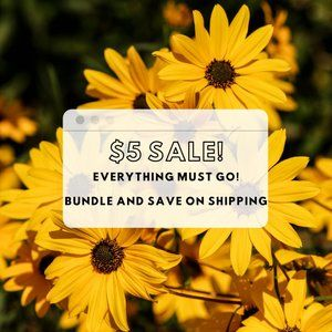 $5 SALE (BUNDLE&SAVE ON SHIPPING) PRICED TO CLEAR